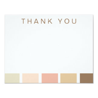 Rose Color Palette Thank You Notes Announcements