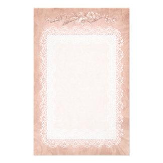 Rose Colored Decorative Stationary Stationery Design
