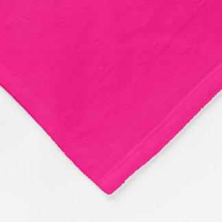 Rose-Colored Fleece Blanket