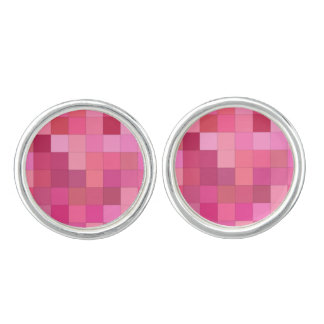 Rose Colored Squares Cufflinks