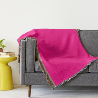 Rose-Colored Throw Blanket