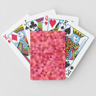 Rose Colored Triangles Bicycle Playing Cards