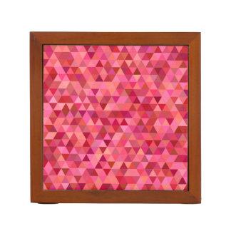 Rose Colored Triangles Desk Organiser