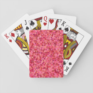 Rose Colored Triangles Playing Cards