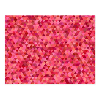 Rose Colored Triangles Postcard