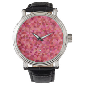 Rose Colored Triangles Watch