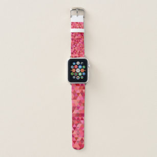 Rose Coloured Triangles Apple Watch Band