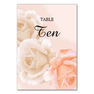 Rose Confection Table Card # 10(vertical)