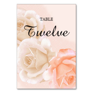Rose Confection Table Card # 12 (vertical)