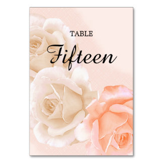 Rose Confection Table Card # 15 (vertical)
