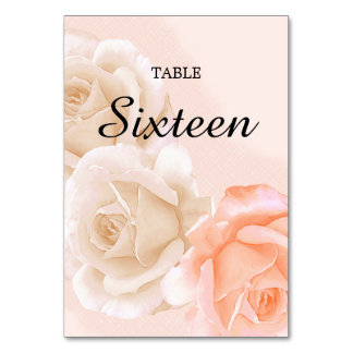 Rose Confection Table Card # 16 (vertical)