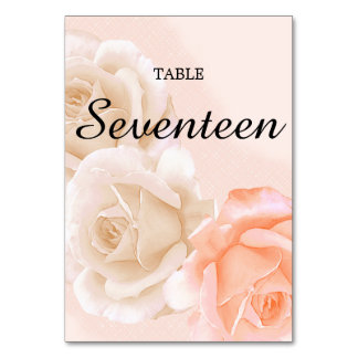 Rose Confection Table Card # 17 (vertical)