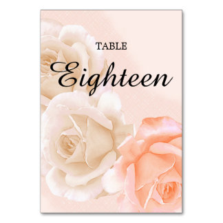 Rose Confection Table Card # 18 (vertical)