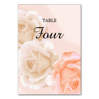 Rose Confection Table Card # 4 (vertical)