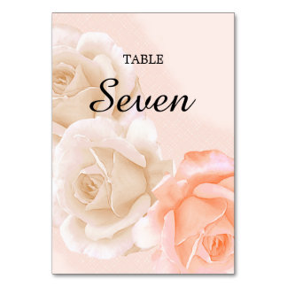 Rose Confection Table Card # 7 (vertical)