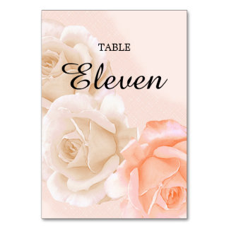 Rose Confection Table Card # 9 (vertical)
