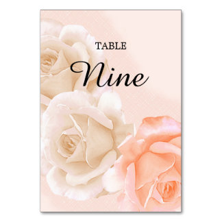 Rose Confection Table Card # 9(vertical)