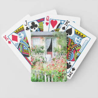 Rose Cottage Poker Deck
