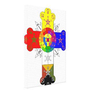 Rose Cross Lamen Gallery Wrap Canvas