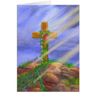 Rose Cross Painting Card