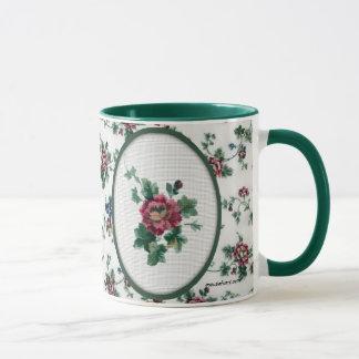 Rose Cross Stitch Mug