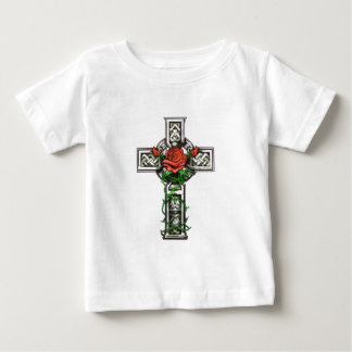 Rose cross tattoo design baby T-Shirt
