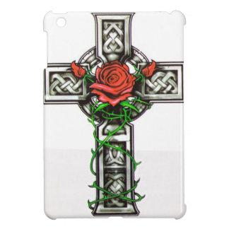 Rose cross tattoo design cover for the iPad mini