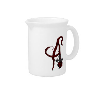 Rose Cross Vampire Monogram A Pitcher