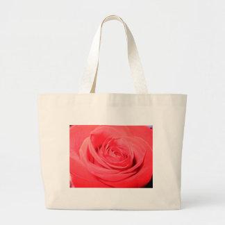 rose,deep pink rose canvas bags