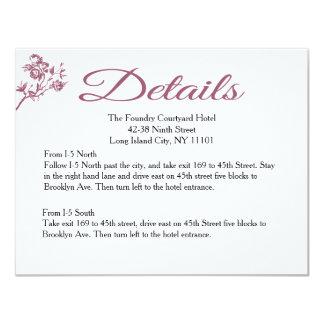 Rose Delight! Pink Burgundy Details Wedding Card 11 Cm X 14 Cm Invitation Card