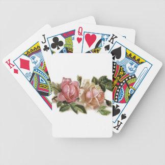Rose Design Bicycle Poker Deck