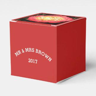 Rose Design Wedding Favor or Gift Box