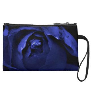 Rose Duality: Black&Blue + Rouge&Noir Clutch Bag Wristlet
