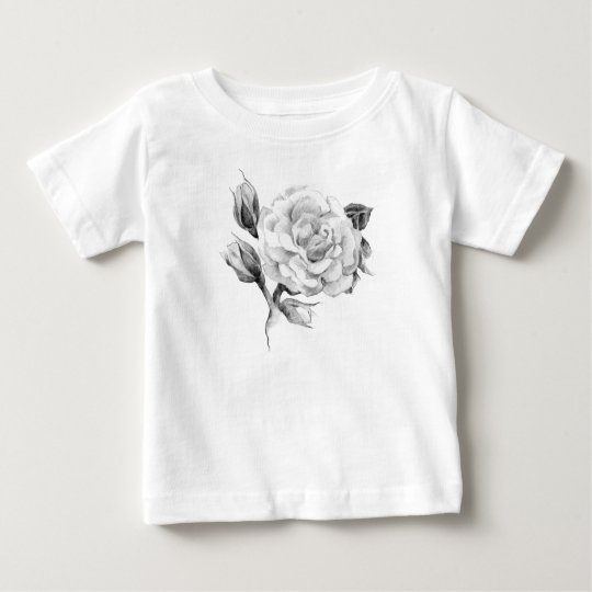 Rose. Elegant floral stylish rustic vintage image Baby T-Shirt