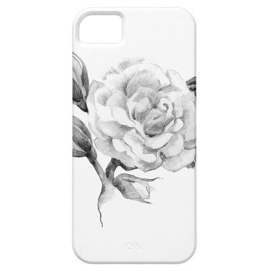 Rose. Elegant floral stylish rustic vintage image Barely There iPhone 5 Case