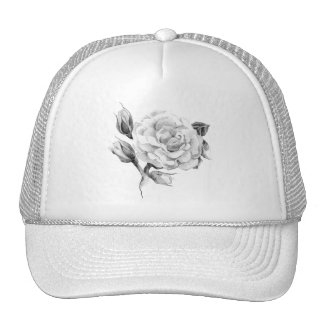 Rose. Elegant floral stylish rustic vintage image Cap