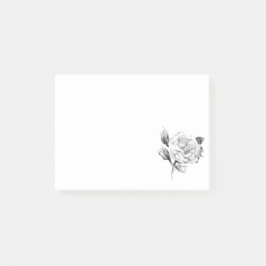 Rose. Elegant floral stylish rustic vintage image Post-it Notes