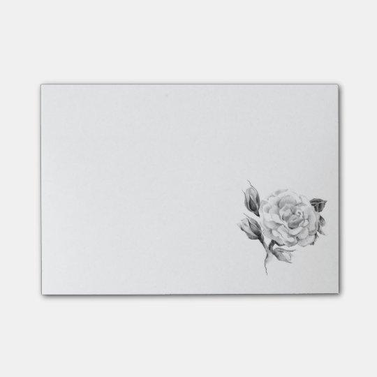 Rose. Elegant floral stylish rustic vintage image Post-it® Notes