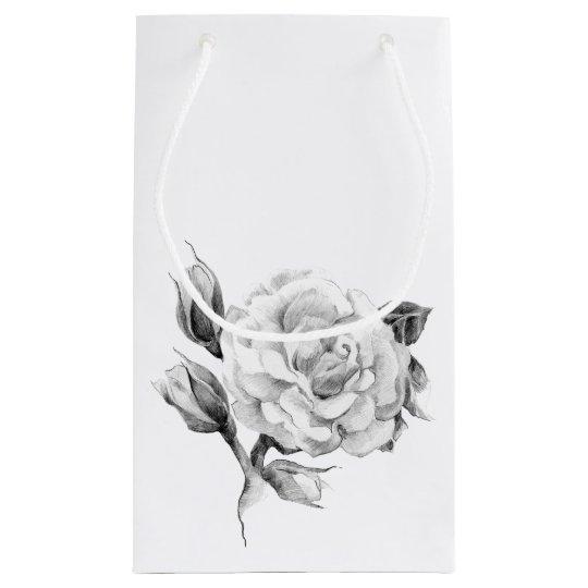 Rose. Elegant floral stylish rustic vintage image Small Gift Bag