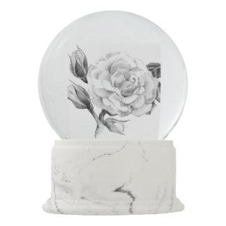 Rose. Elegant floral stylish rustic vintage image Snow Globe