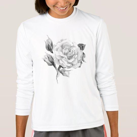 Rose. Elegant floral stylish rustic vintage image T-Shirt