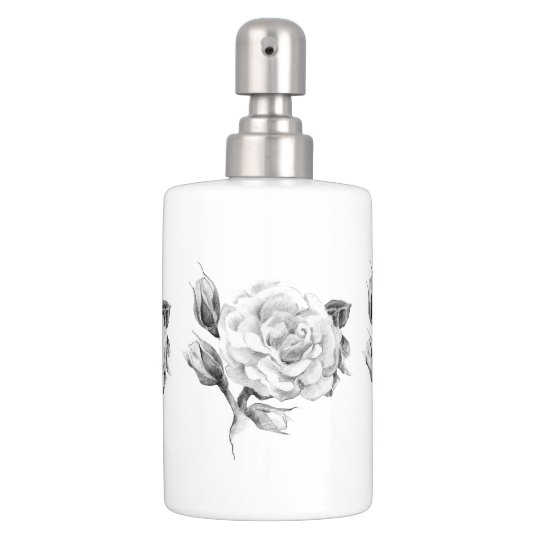 Rose. Elegant floral stylish rustic vintage image Toothbrush Holders