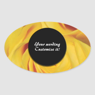 Rose elegant yellow flower stickers CUSTOMIZE