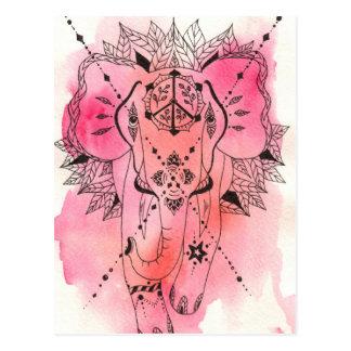 rose elephant Bodhi Postcard