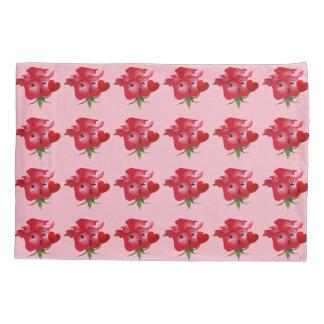 Rose emoji pillowcase