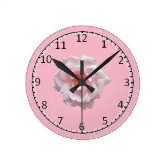 Rose emoji round clock