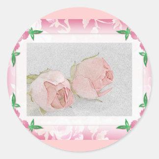 Rose Envelope Seals Round Sticker
