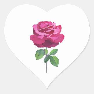 Rose essence heart sticker