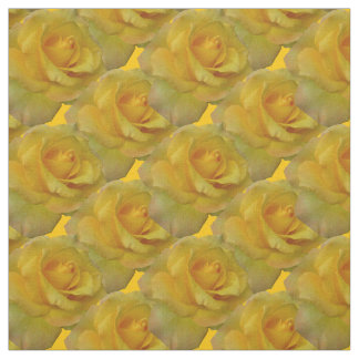 Rose Fabric Yellow Rose Fabric Gold Flower Fabric