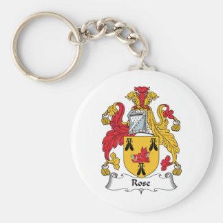 Rose Family Crest Key Ring